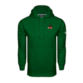 State Under Armour Dark Green Performance Sweats Team Hoodie-Devils