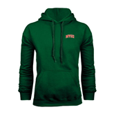 State Dark Green Fleece Hood-Arched MVSU