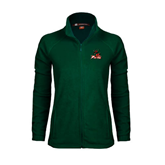 State Ladies Fleece Full Zip Dark Green Jacket-Devils