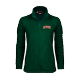 State Ladies Fleece Full Zip Dark Green Jacket-Arched MVSU