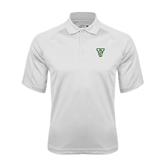 State White Textured Saddle Shoulder Polo-VS
