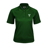 State Ladies Dark Green Textured Saddle Shoulder Polo-VS