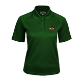 State Ladies Dark Green Textured Saddle Shoulder Polo-Devils