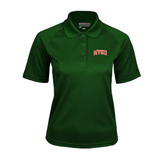 State Ladies Dark Green Textured Saddle Shoulder Polo-Arched MVSU