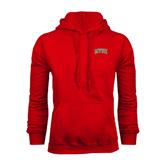 State Red Fleece Hoodie-Arched MVSU