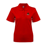 State Ladies Easycare Red Pique Polo-Devils