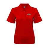State Ladies Easycare Red Pique Polo-Arched MVSU