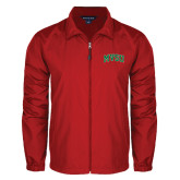 State Full Zip Red Wind Jacket-Arched MVSU
