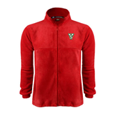 State Fleece Full Zip Red Jacket-VS