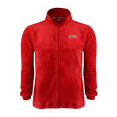 State Fleece Full Zip Red Jacket-Arched MVSU