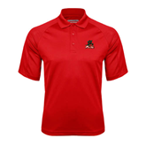 State Red Textured Saddle Shoulder Polo-Devils