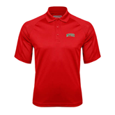 State Red Textured Saddle Shoulder Polo-Arched MVSU