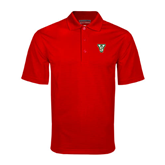 State Red Mini Stripe Polo-VS