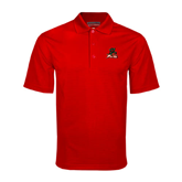 State Red Mini Stripe Polo-Devils