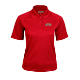 State Ladies Red Textured Saddle Shoulder Polo-Arched MVSU