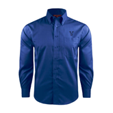 State Red House French Blue Long Sleeve Shirt-VS