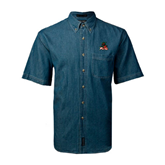 State Denim Shirt Short Sleeve-Devils