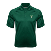 State Dark Green Textured Saddle Shoulder Polo-VS