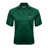 State Dark Green Textured Saddle Shoulder Polo-Devils