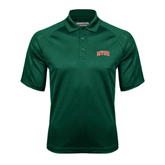 State Dark Green Textured Saddle Shoulder Polo-Arched MVSU