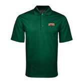 State Dark Green Mini Stripe Polo-Arched MVSU