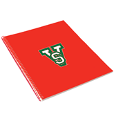 State College Spiral Notebook w/Red Coil-VS