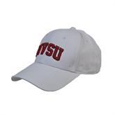 State White Heavyweight Twill Pro Style Hat-Arched MVSU