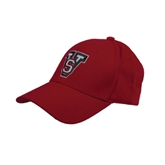 State Red Heavyweight Twill Pro Style Hat-VS