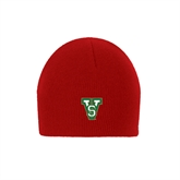 State Red Knit Beanie-VS