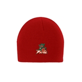 State Red Knit Beanie-Devils