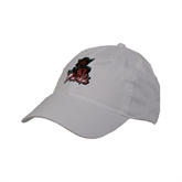 State White Twill Unstructured Low Profile Hat-Devils