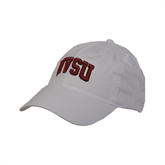 State White Twill Unstructured Low Profile Hat-Arched MVSU