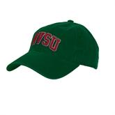 State Dark Green Twill Unstructured Low Profile Hat-Arched MVSU