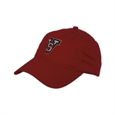 State Red Twill Unstructured Low Profile Hat-VS