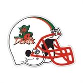 State Football Helmet Magnet-Devils, 11 1/2 in W X 8 3/4 in H