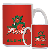 State Alumni Full Color White Mug 15oz-Devils
