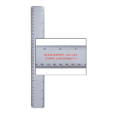 State 12 Inch White Plastic Ruler-Mississippi Valley State University