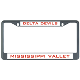 State Metal License Plate Frame in Black-VS