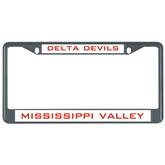 State Metal License Plate Frame in Black-VS