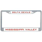 State Metal License Plate Frame in Chrome-VS