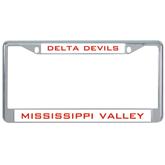 State Metal License Plate Frame in Chrome-VS