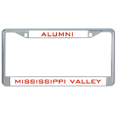 State Metal License Plate Frame in Chrome-Devils