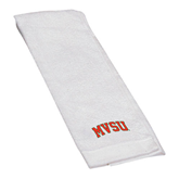 State White Golf Towel-Arched MVSU