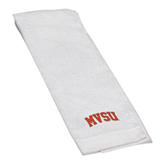State White Golf Towel-Arched MVSU