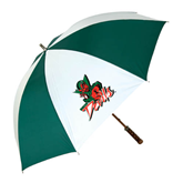 State 62 Inch Forest Green/White Umbrella-Devils