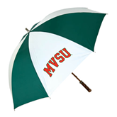 State 62 Inch Forest Green/White Umbrella-Arched MVSU