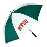 State 62 Inch Forest Green/White Umbrella-Arched MVSU
