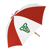 State 62 Inch Red/White Umbrella-VS