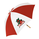 State 62 Inch Red/White Vented Umbrella-Devils