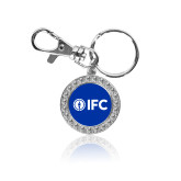 Crystal Studded Round Key Chain-IFC